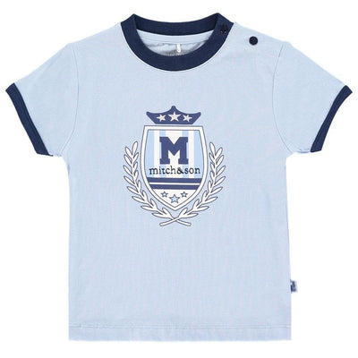 Boys Pale Blue Cotton T Shirt - Junior Couture