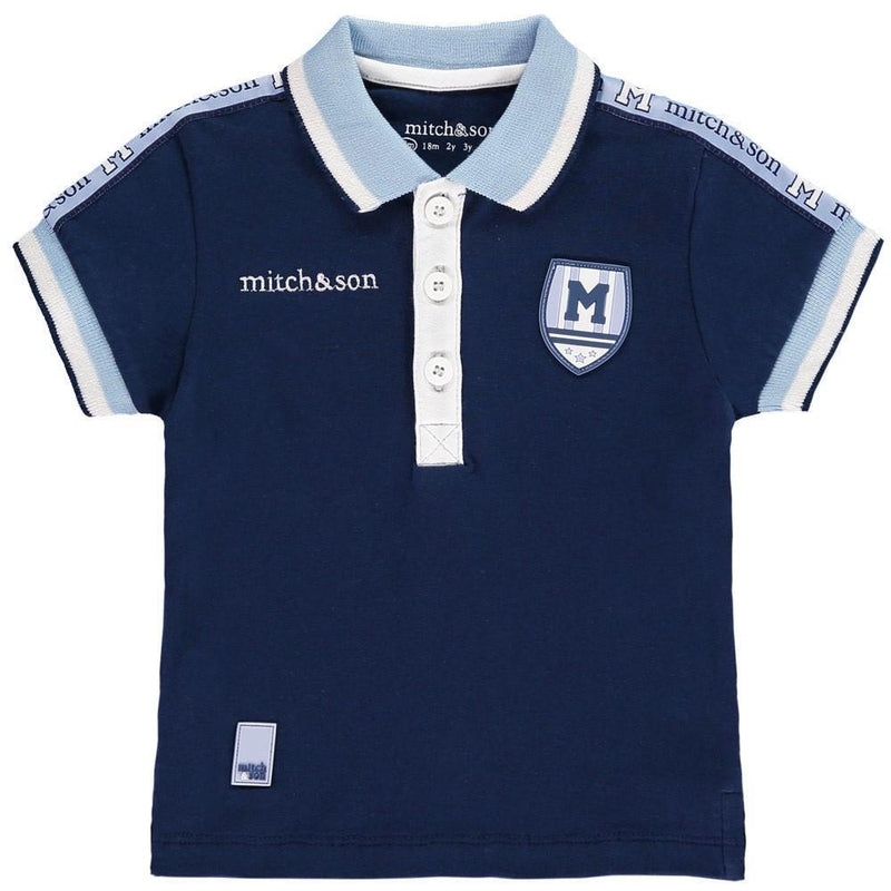 Boys Navy Blue Polo Shirt - Junior Couture