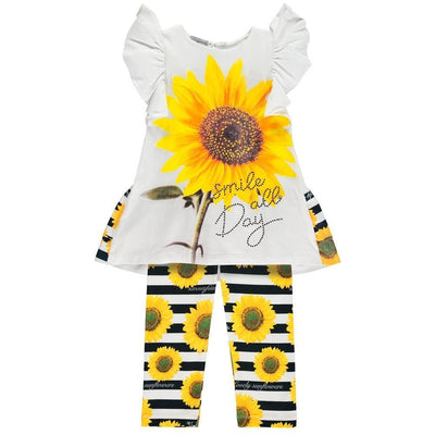 Girls Sunflower Legging Set - Junior Couture