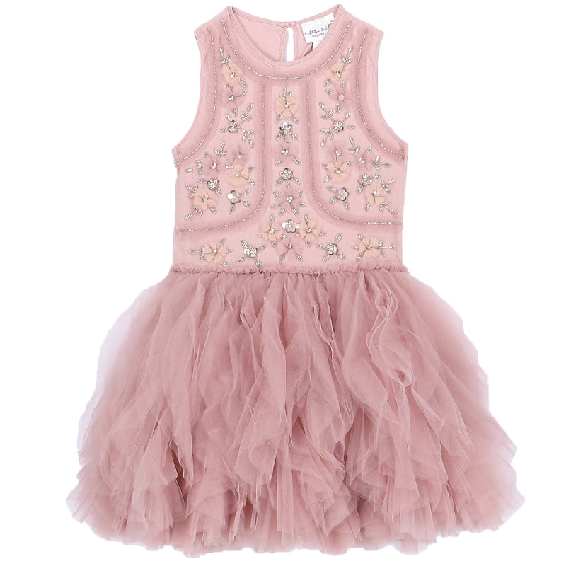Girls Mauve Faberge Dress