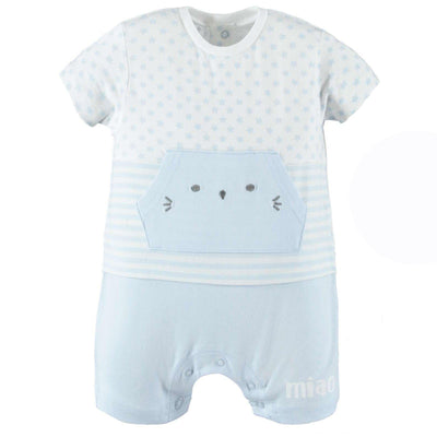 Baby Boys Romper With Kitten Pocket - Junior Couture