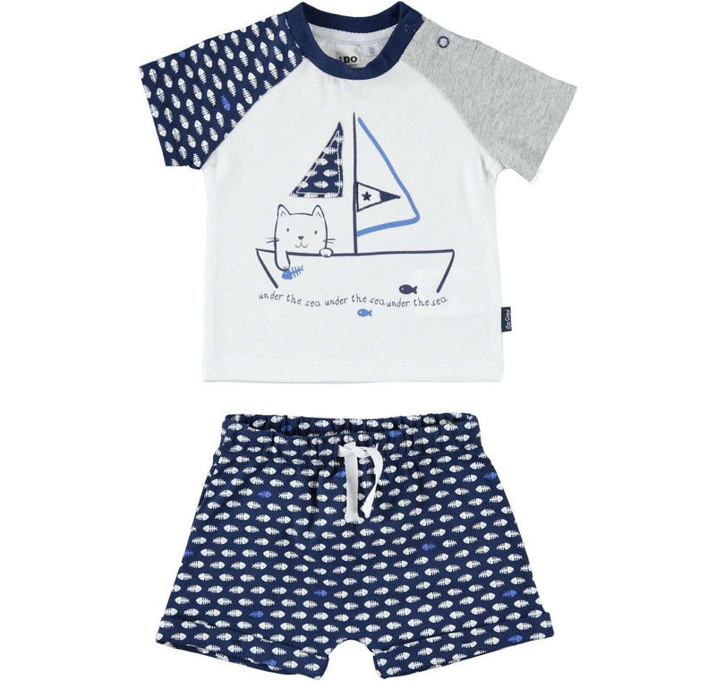 Baby Boys Cotton Shorts Set - Junior Couture