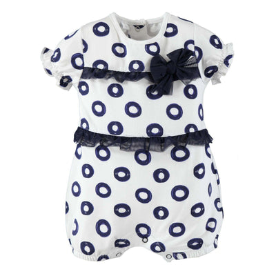 Baby Girls Spotted Romper - Junior Couture