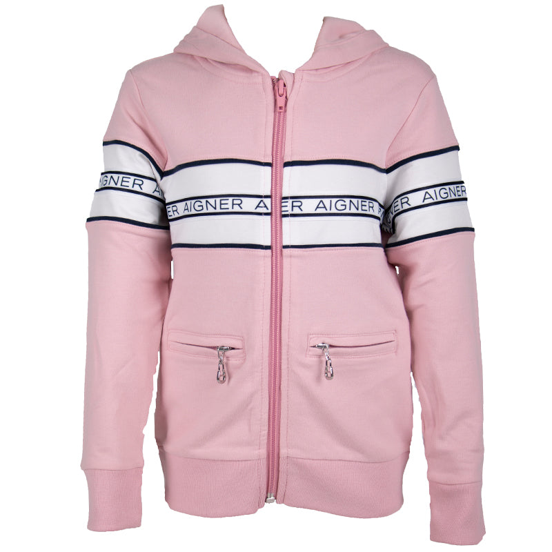 Girls Pink Tracksuit Top