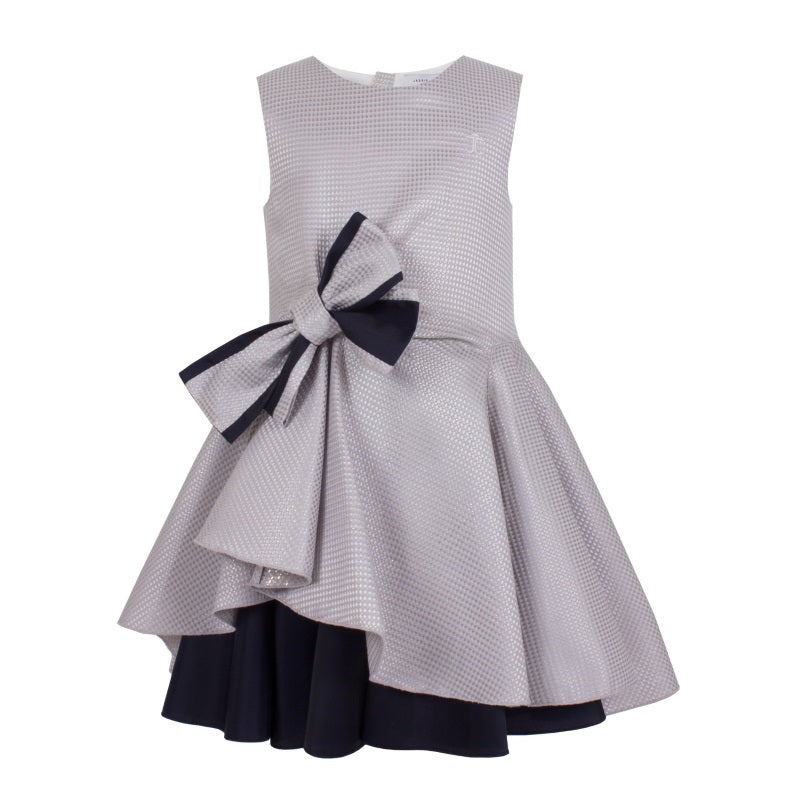 Girls Silver Special Occasion Dress