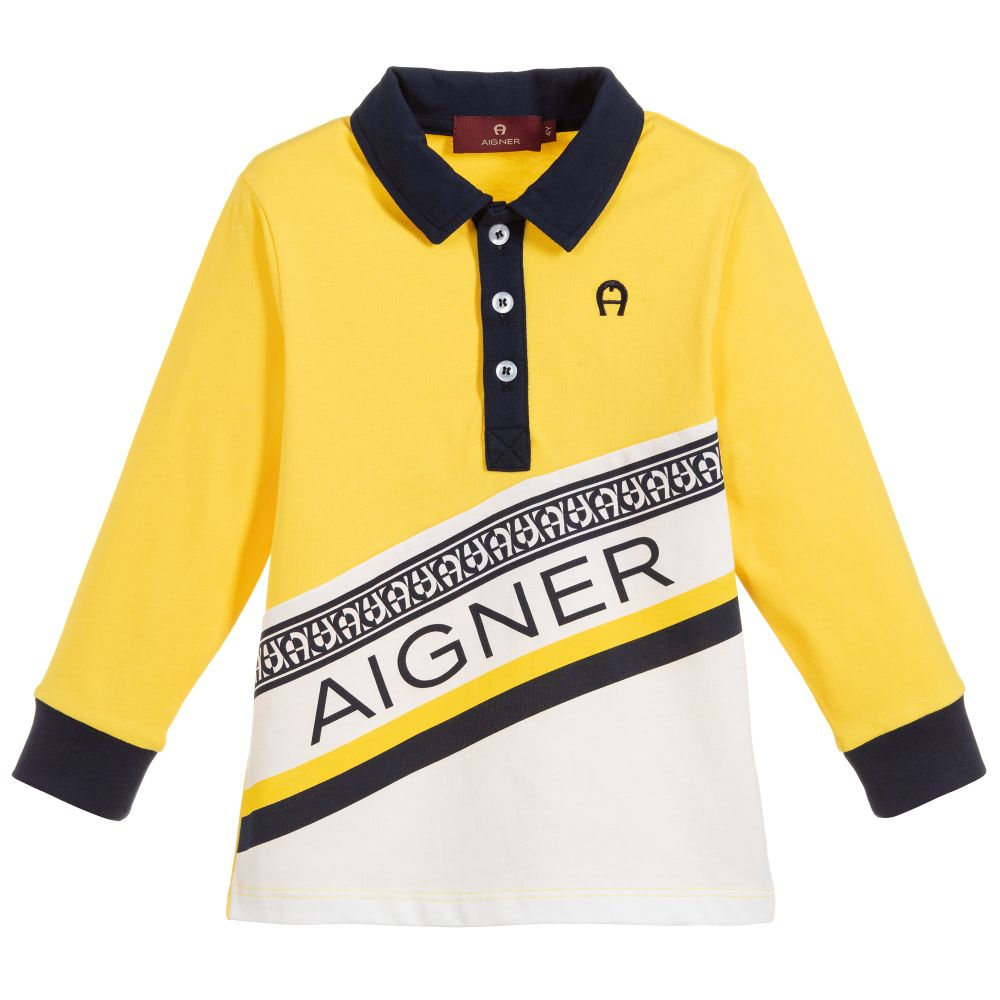Boys Yellow Polo Shirt