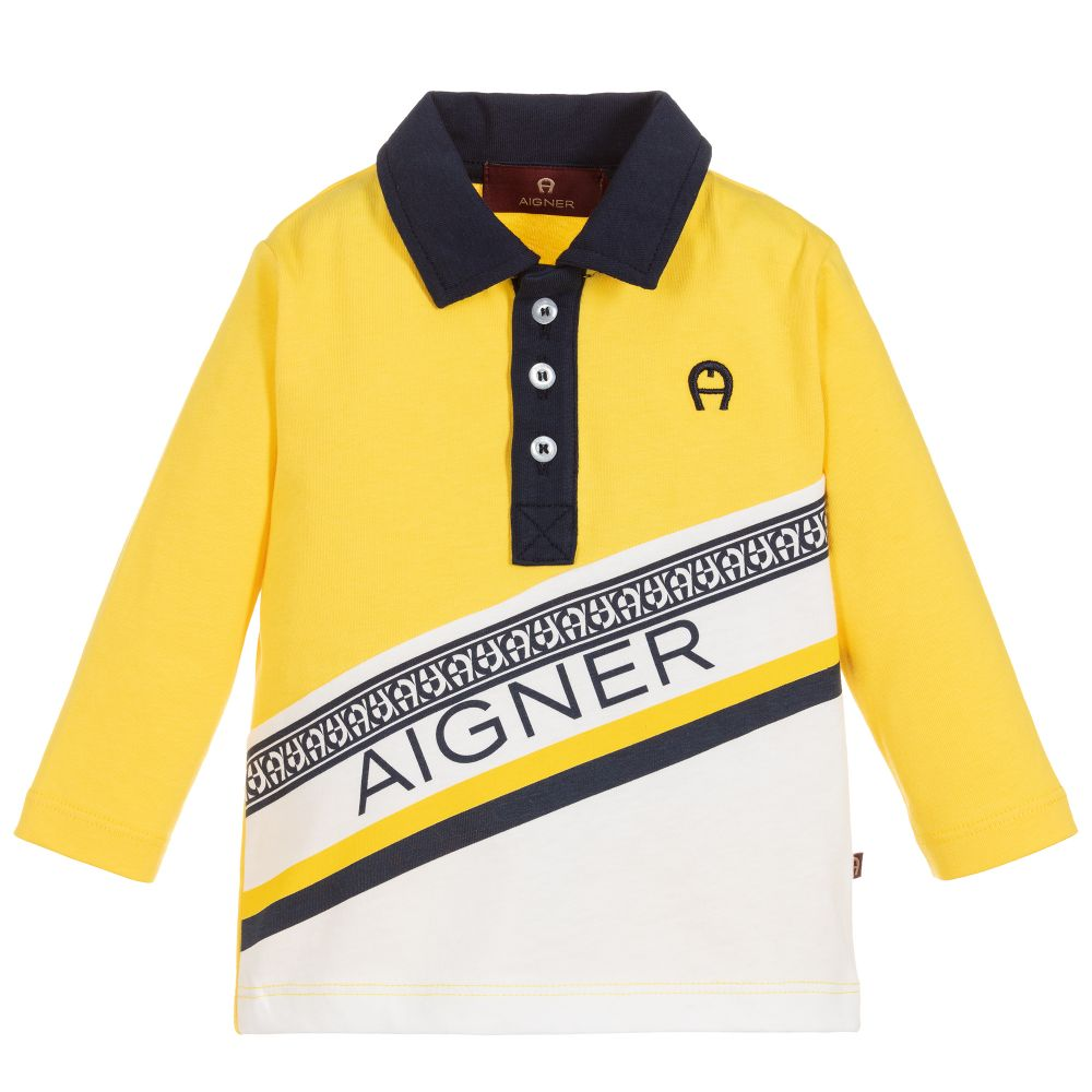 Baby Boys Yellow Polo Shirt