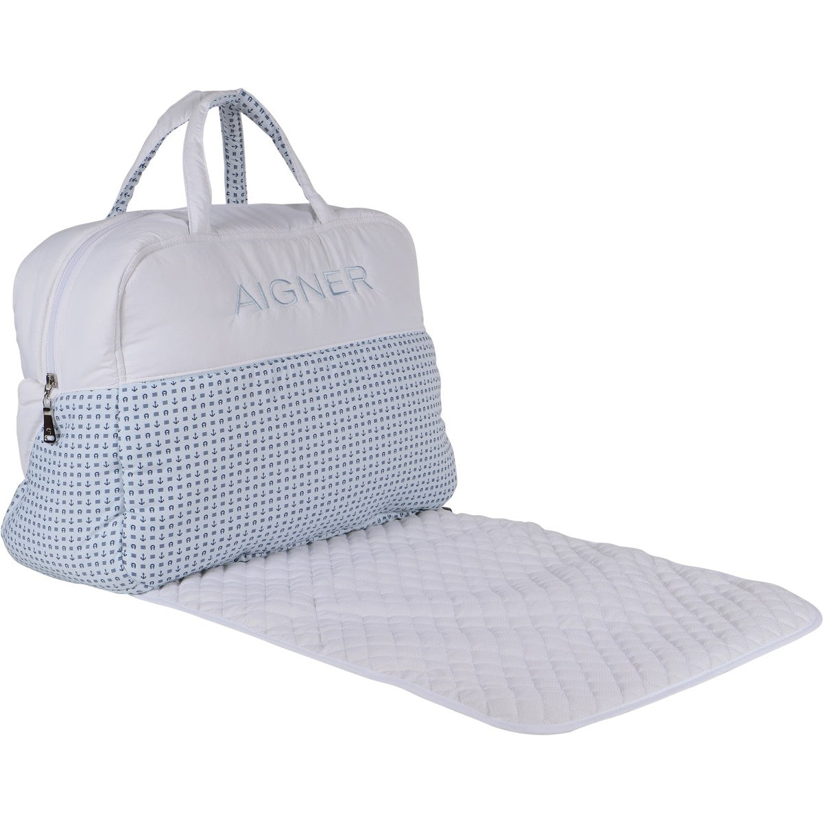 Baby White & Blue Changing Bag