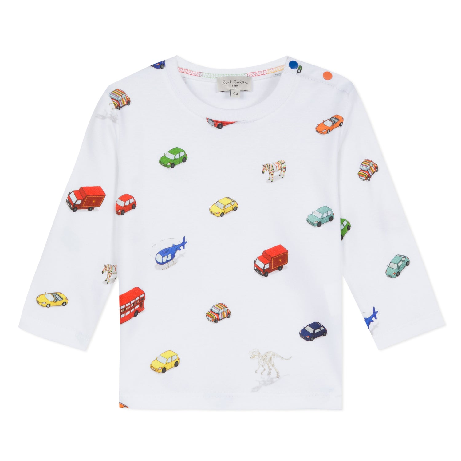 Baby Boys White Printed Top