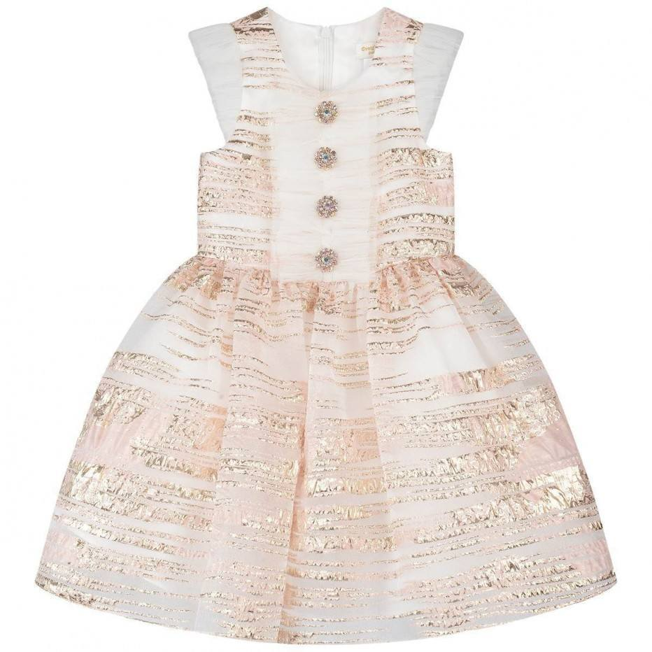 Girls Rose Gold Special Occasion Dress