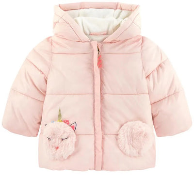 Baby Girls Pale Pink Puffer Jacket