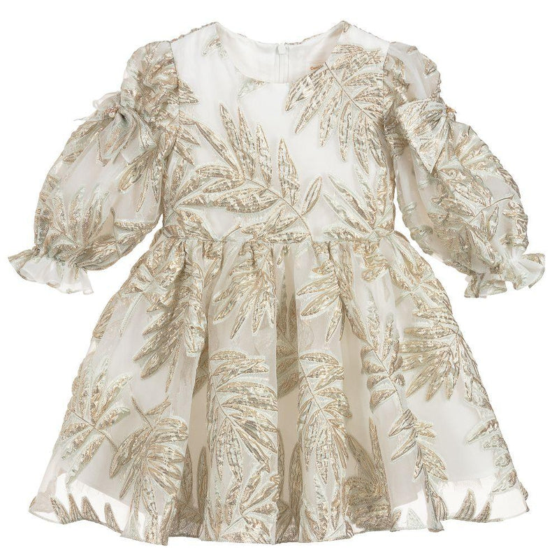 Girls Gold Special Occasion Dress
