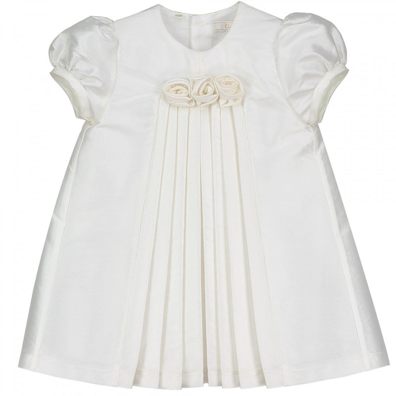 Baby Girls Silk Ivory Dress