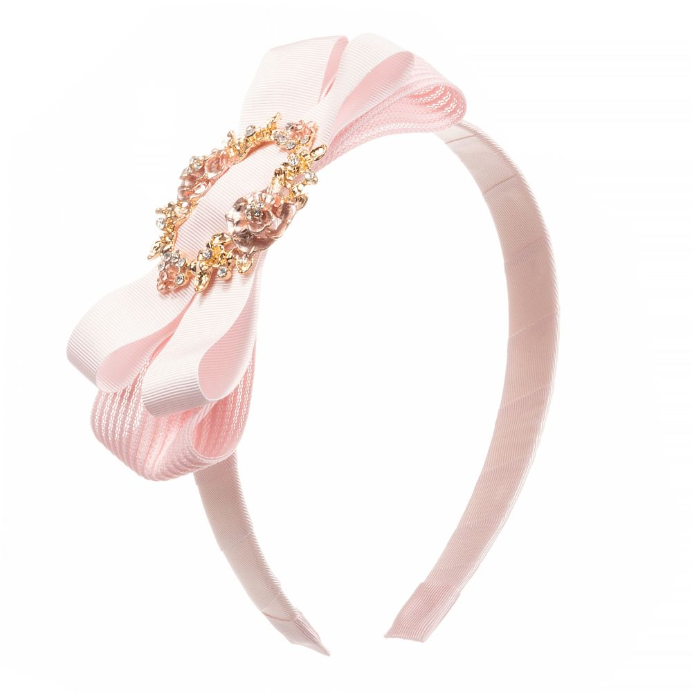 Girls Pink Bow Hairband