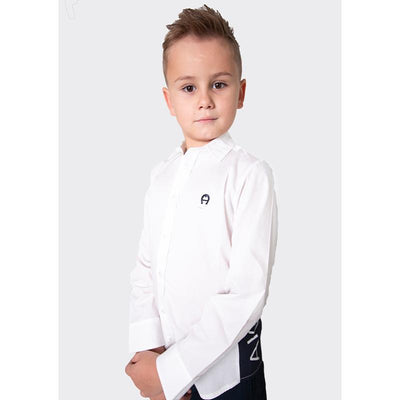 Boys White Cotton Shirt
