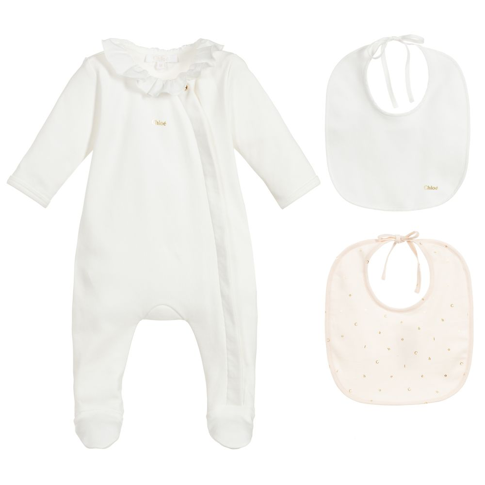 Girls Ivory Babygrow Gift Set