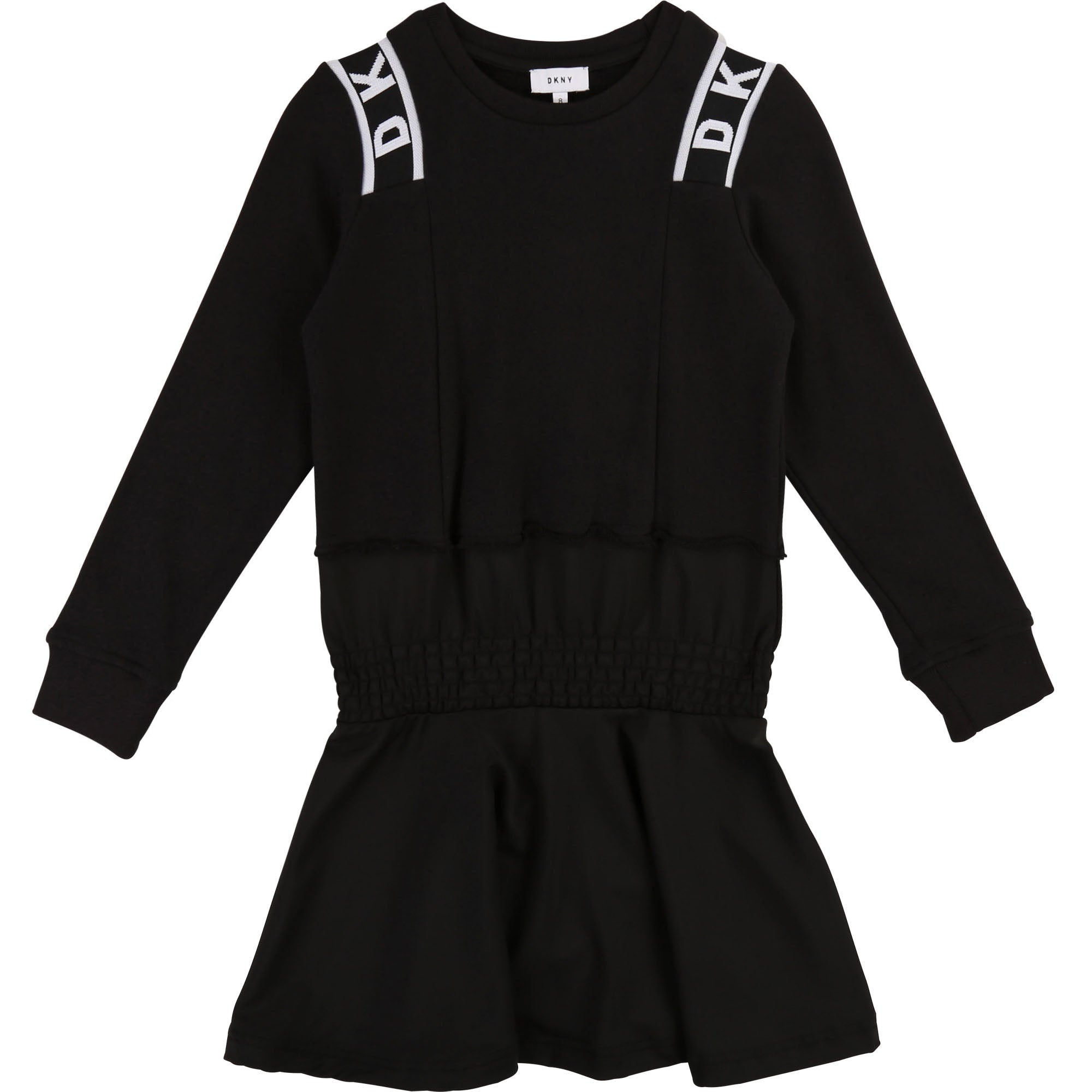 Girls Black Logo Dress