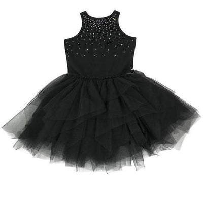Girls Black Carrie Crystal Dress