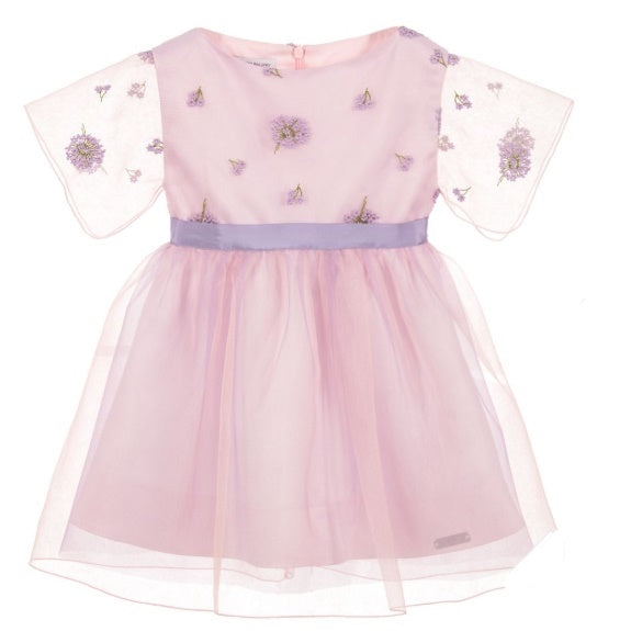 Girls Lilac Tulle Dress