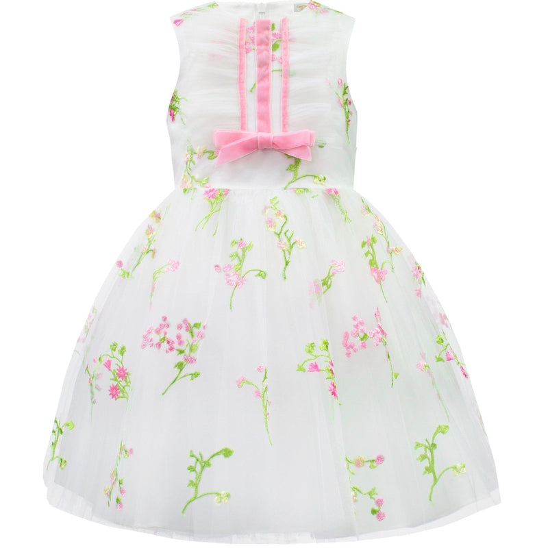 Girls Floral Tulle Dress
