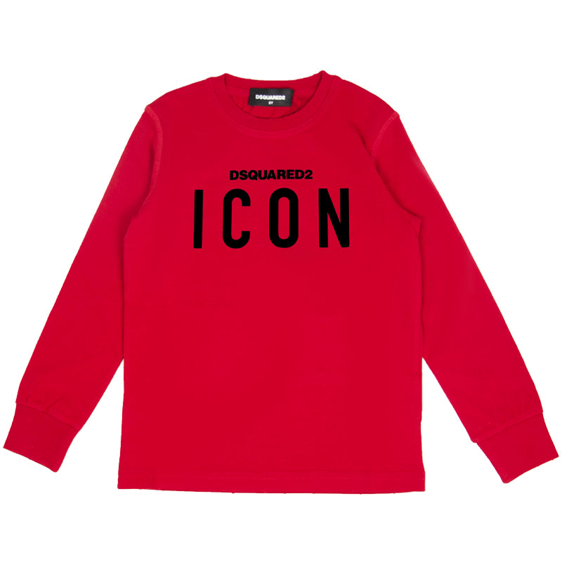 Red Icon Long Sleeve Top