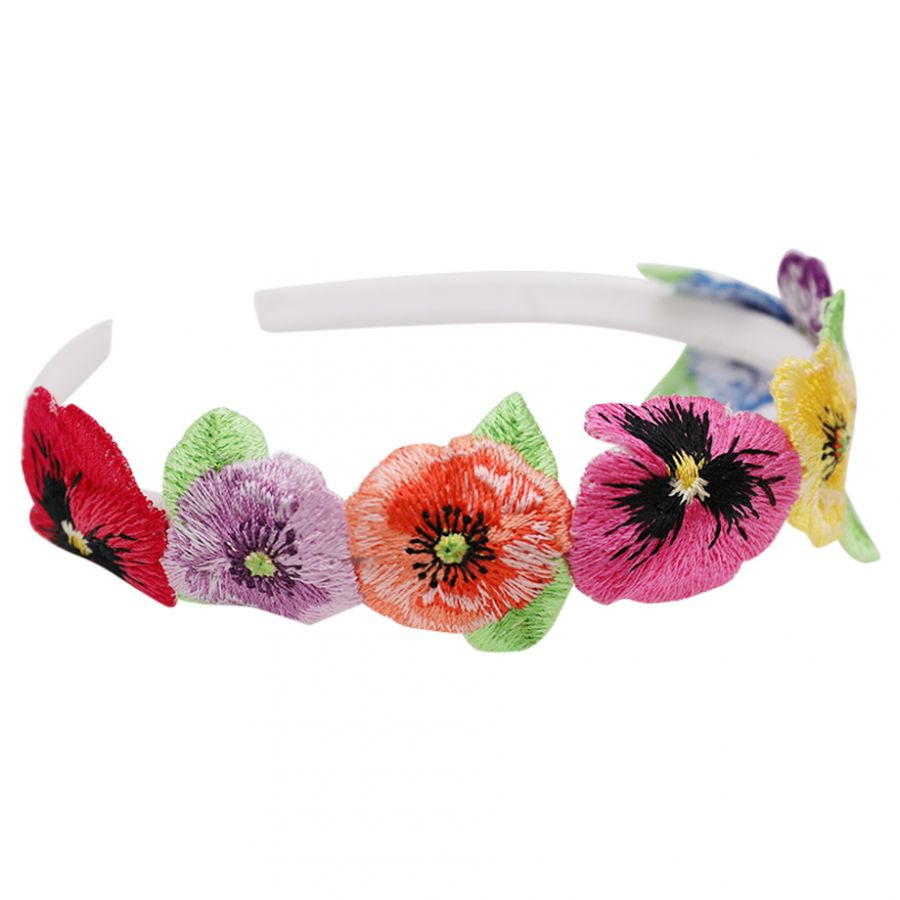 Girls Floral Embroidery Hairband