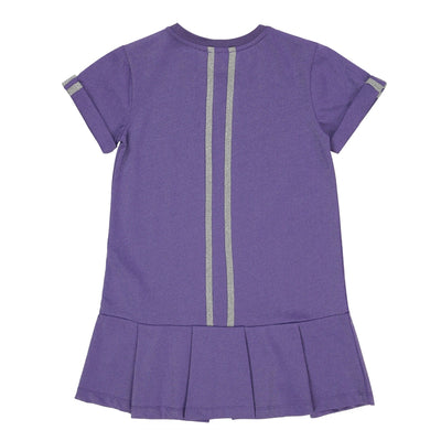Girls Purple Drop Waist Dress