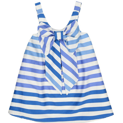 Girls Blue & White Bow Dress