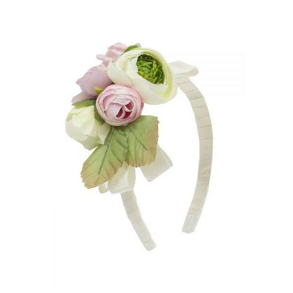 Ivory & Pink Floral Hairband