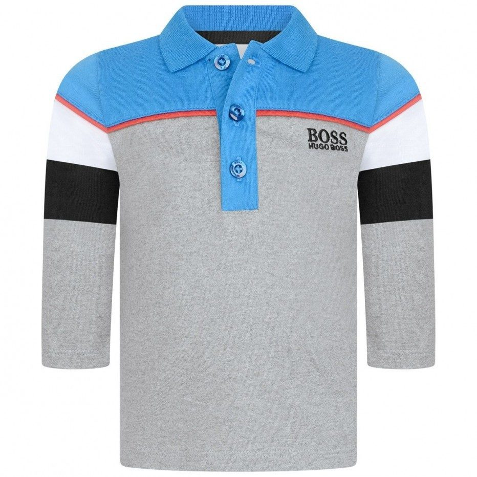 Baby Boys Grey Logo Polo Shirt
