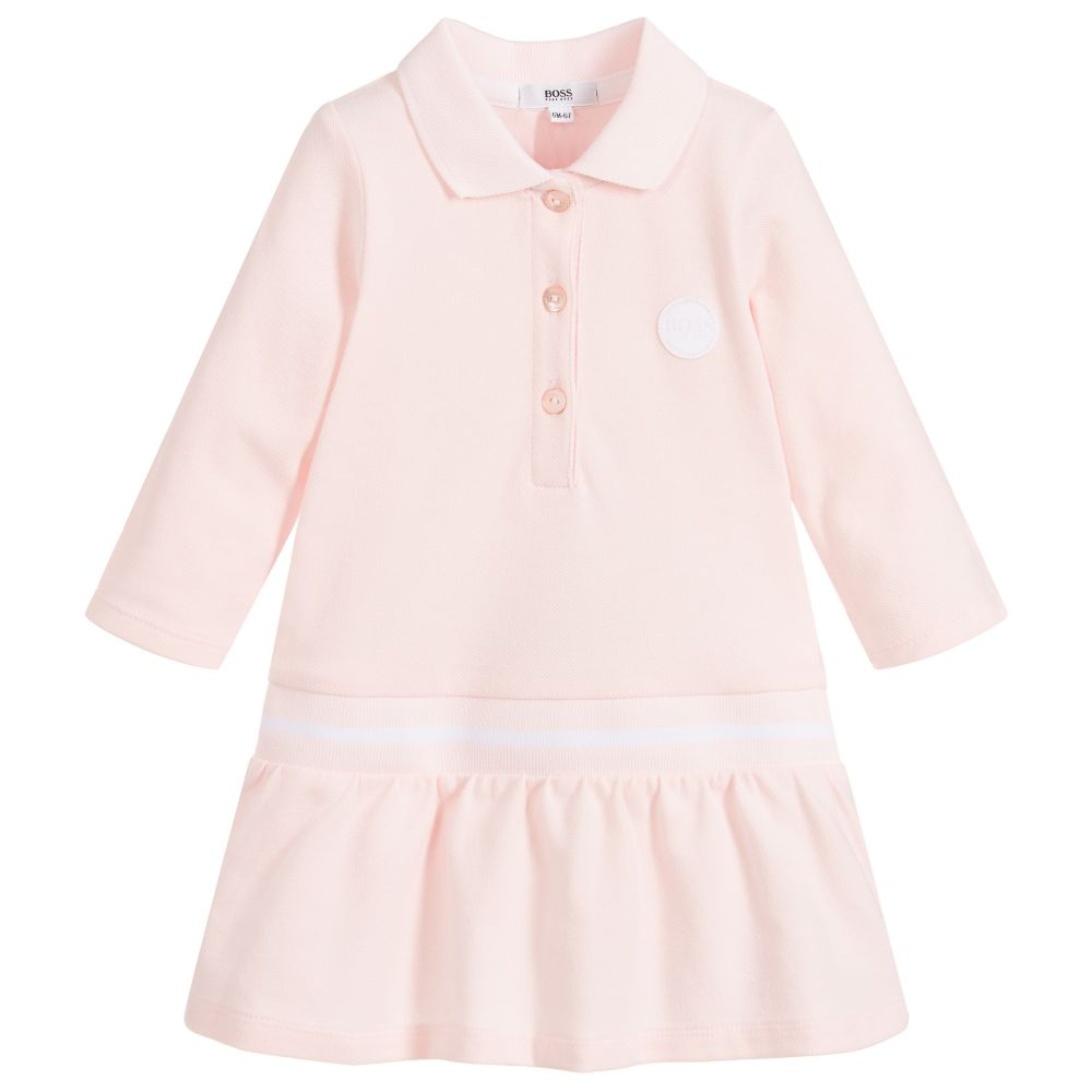 Baby Girls Pink Polo Dress