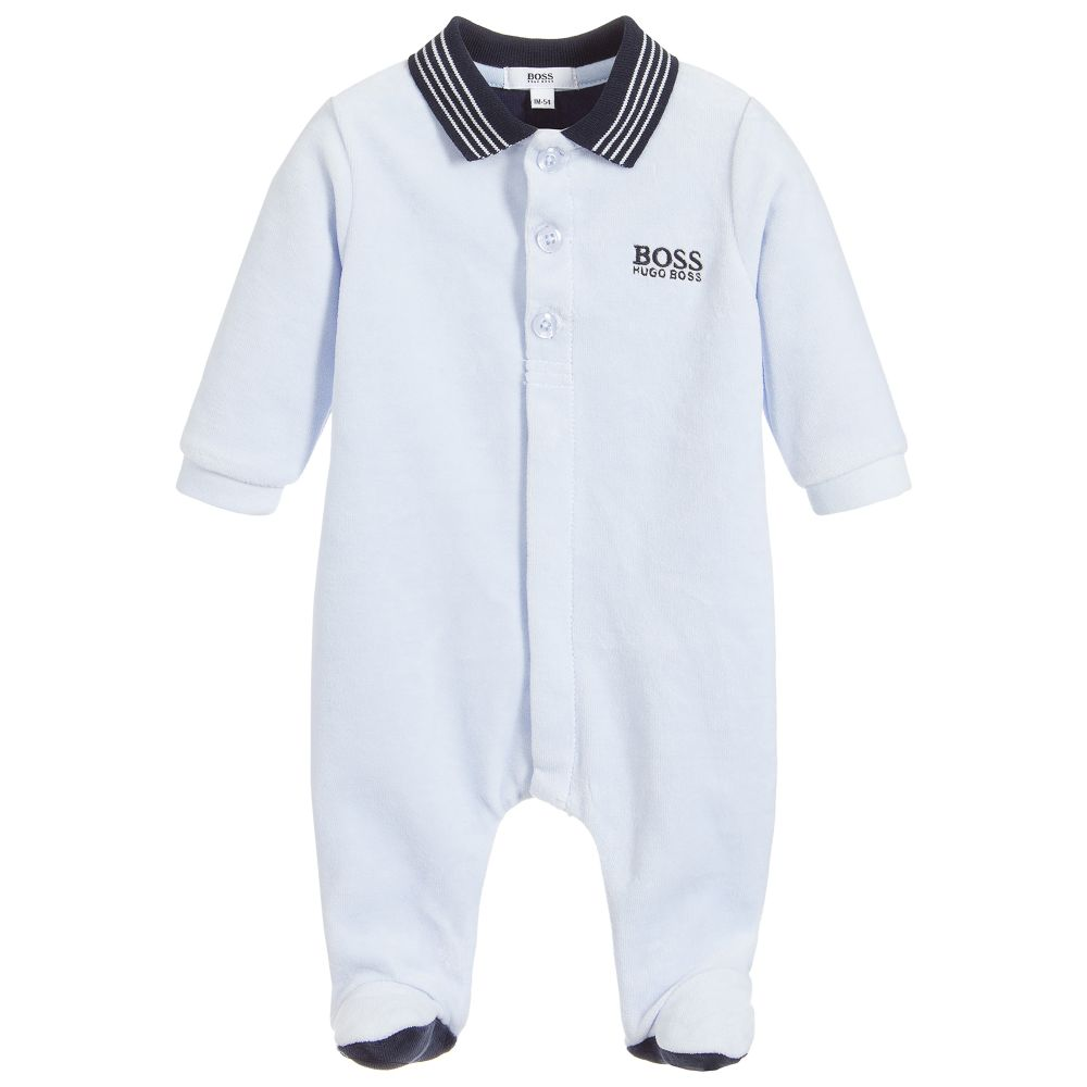 Baby Boys Light Blue Babygrow