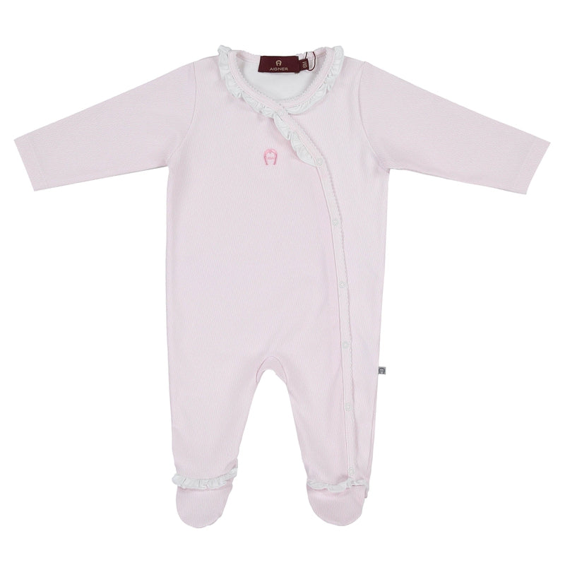 Girls Pink  & White Babygrow