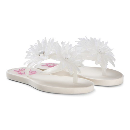 Girls White Kendra Flip Flops