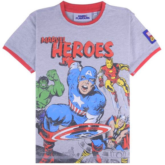 Marvel Heroes Grey T-Shirt