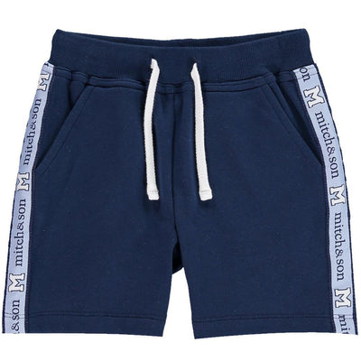 Boys Navy Blue Jersey Shorts - Junior Couture