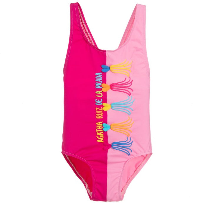 Girls Pink Swimsuit