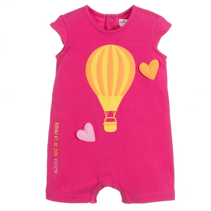 Baby Girls Pink Hot Air Balloon Romper