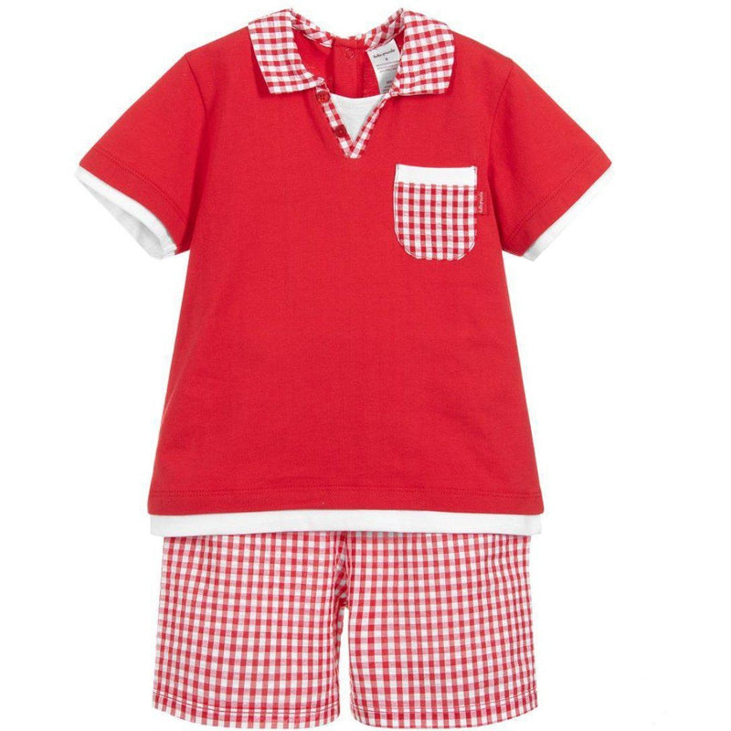 Boys Red Two Piece Set