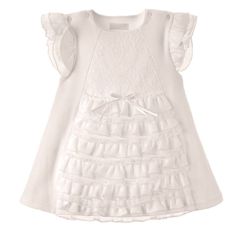 Baby Girls Ivory Frill Dress