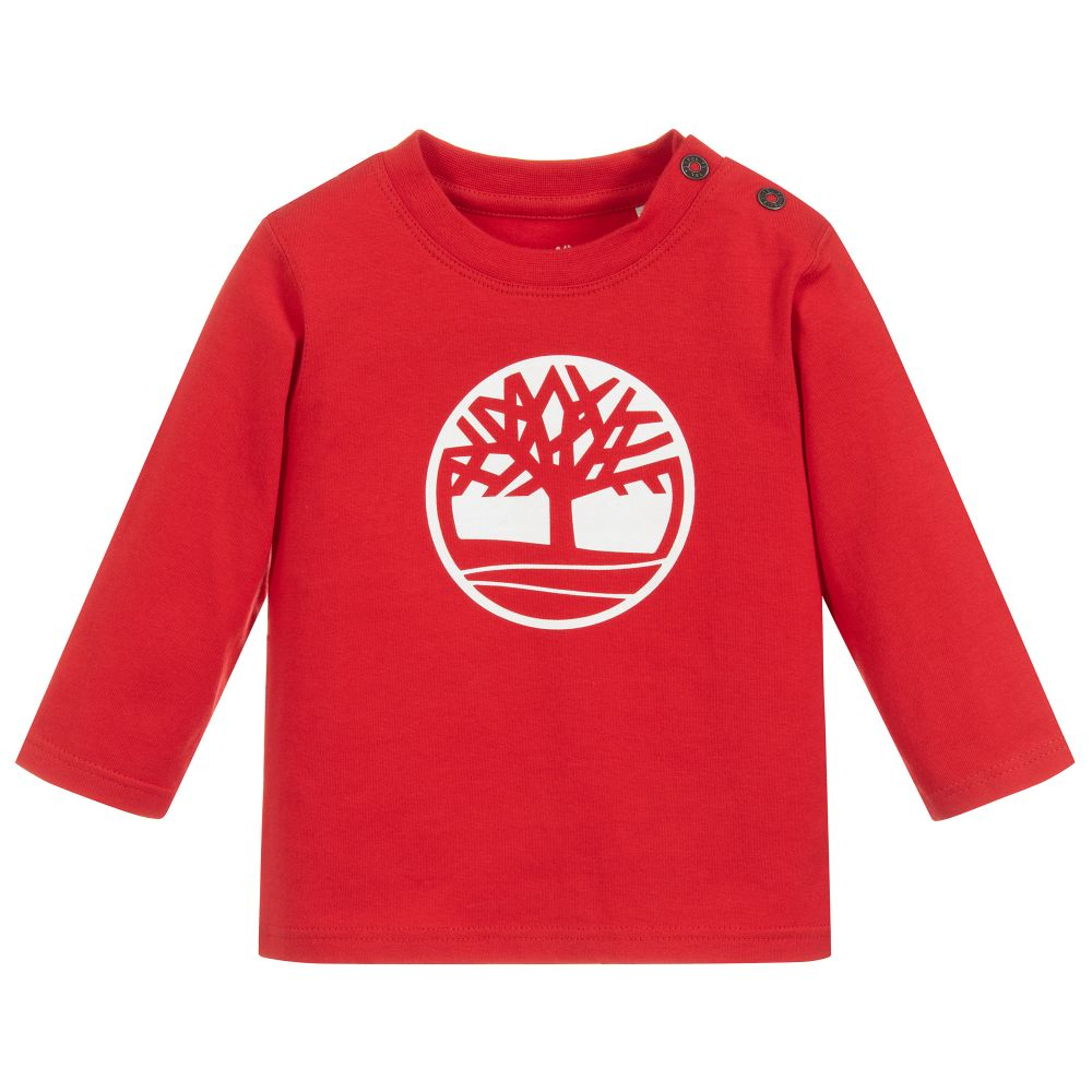 Baby Boys Red Logo Top