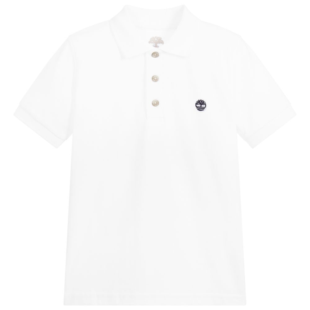 Boys White Polo Shirt