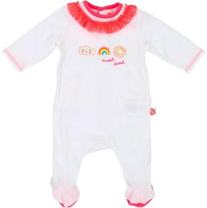 Girls White Babygrow