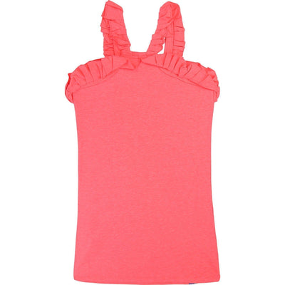 Girls Neon Pink Cotton Dress