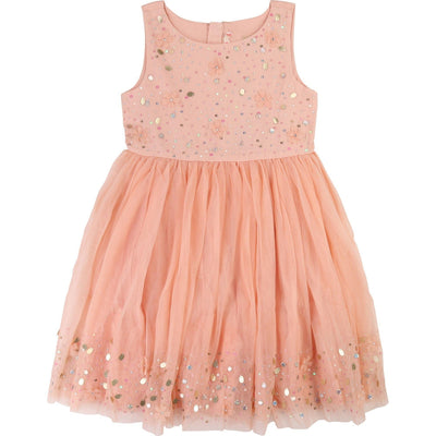 Girls Pink Tulle and Sequin Dress