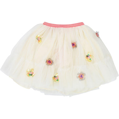 Girls Ivory Tulle Skirt