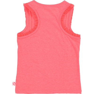 Girls Neon Pink Vest Top