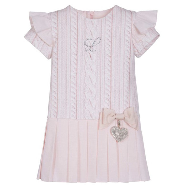 Girls Pink Pleated Dress