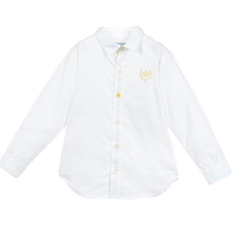 Boys White Long Sleeved Shirt