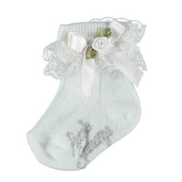 Baby Girls White Lace Socks